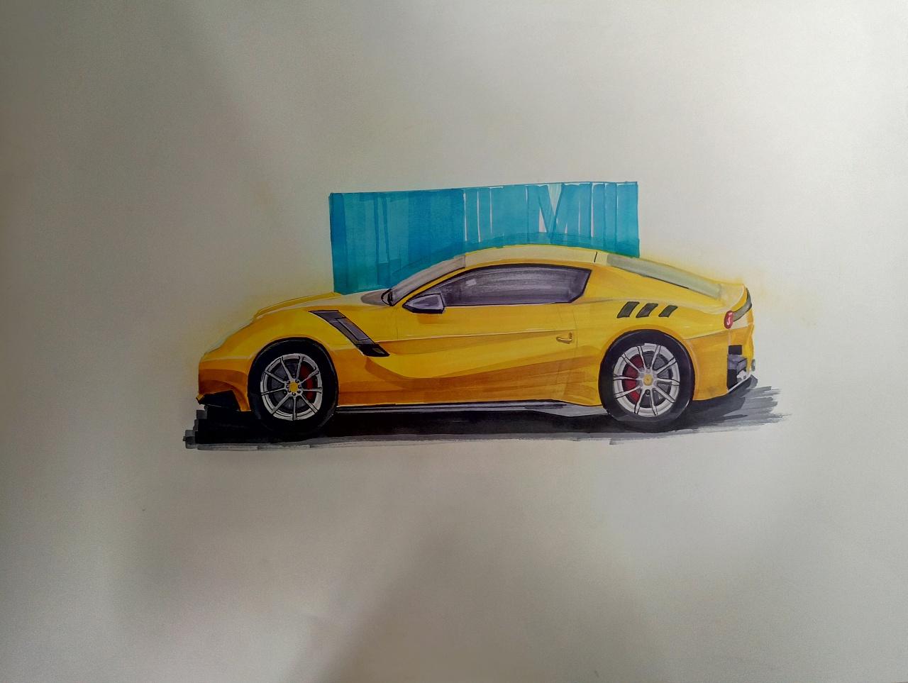 汽车手绘效果图