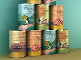 代餐粉包装设计 五谷杂粮包装设计 营养食品包装设计