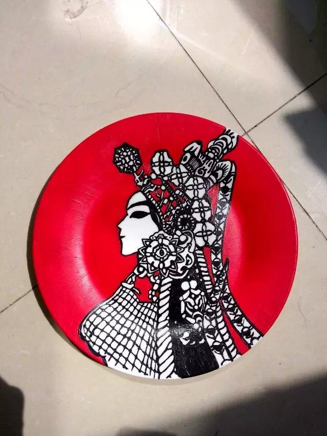 手绘盘子|纯艺术|油画|宗国疯_ - 原创作品 - 站酷