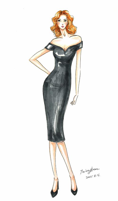 服装设计效果图之时装画|休闲/流行服饰|服装