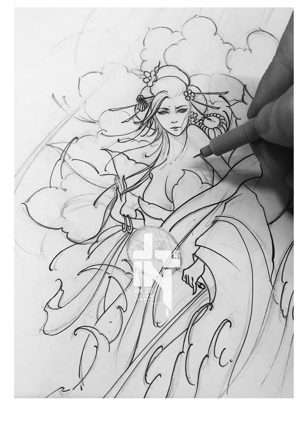 艺妓手稿图片