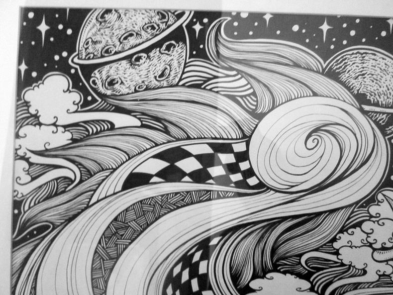 《博昂之星》一开手绘黑白画
