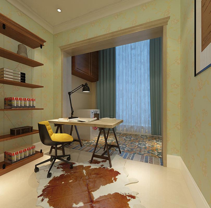 林溪湾90平复式装修,楼梯隔板设计真个性图片