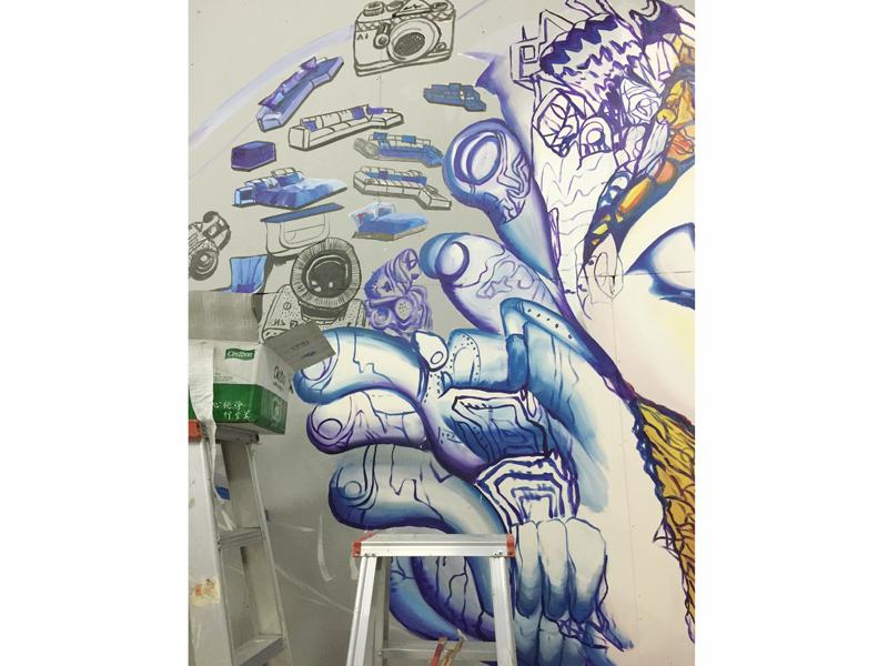顺德手绘墙画 办公室手绘壁画|其他|墙绘/立体画|川美