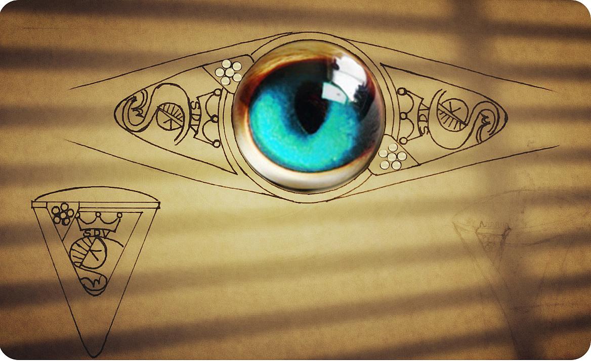 手绘稿保存宝石大戒指