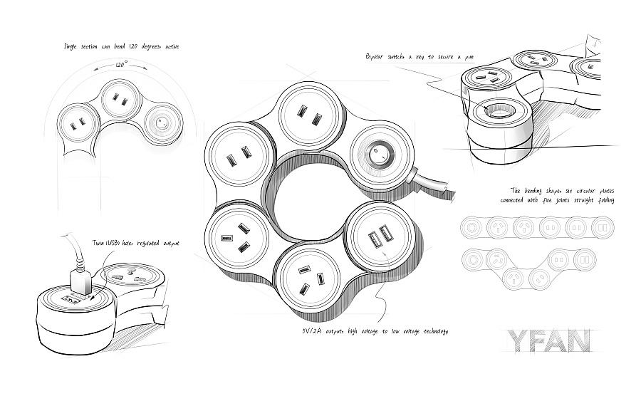Rover开关插座手绘产品项目 电子产品 图纸/工业 壹贰工设-原创设计作品-站酷(ZCOOL)图纸配筋看图剪力墙图片