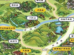 美丽乡村手绘地图