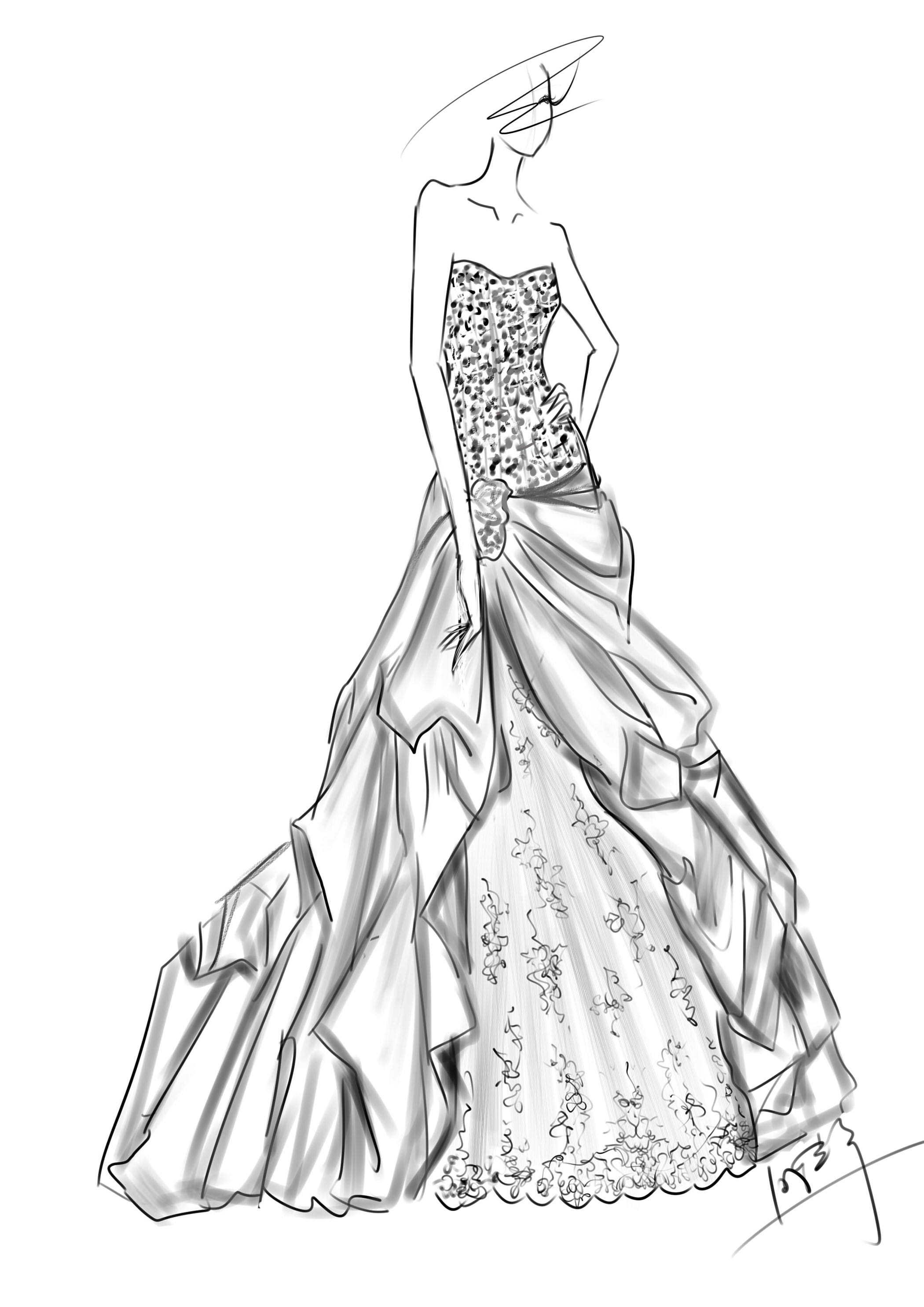 婚纱设计手稿 服装 正装/礼服 aceyqian - 原创作品