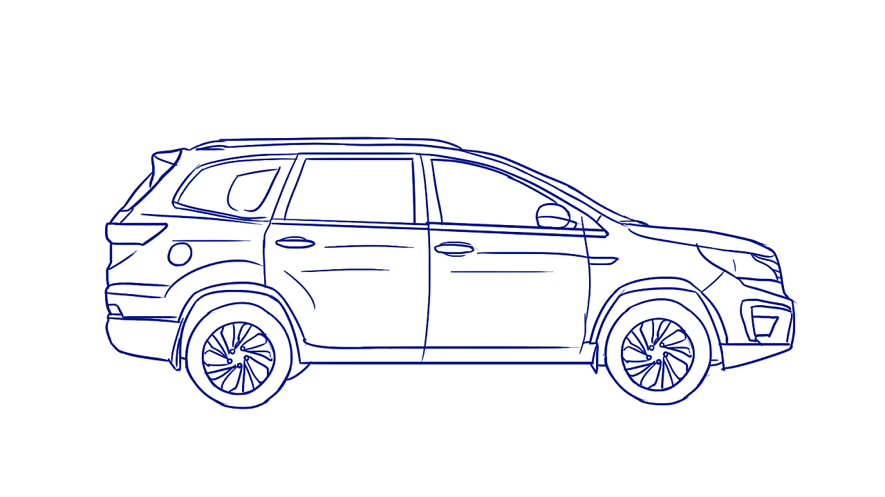 汽车手绘简易图