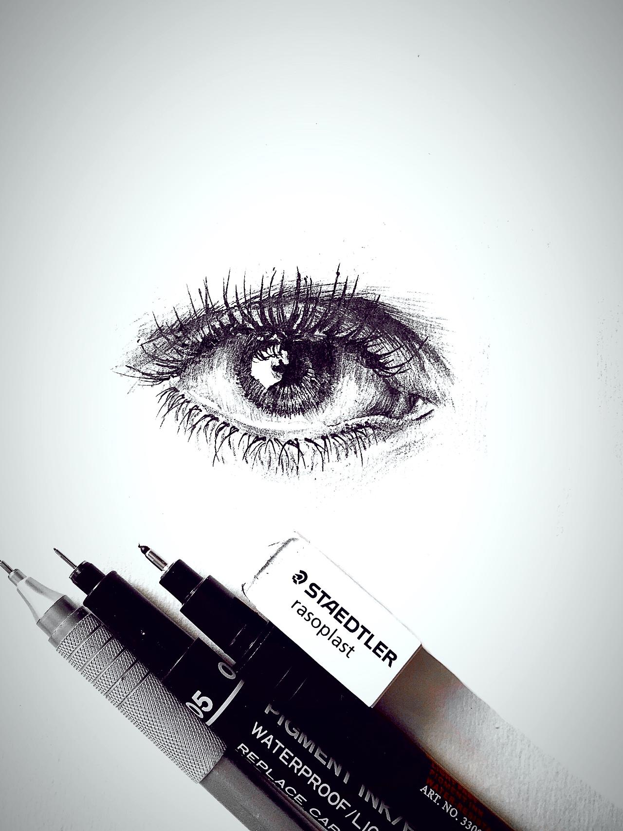 手绘 眼睛