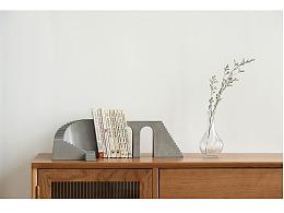尘市集|水泥旋转楼梯桌面摆件混凝土加铜件组合建筑风