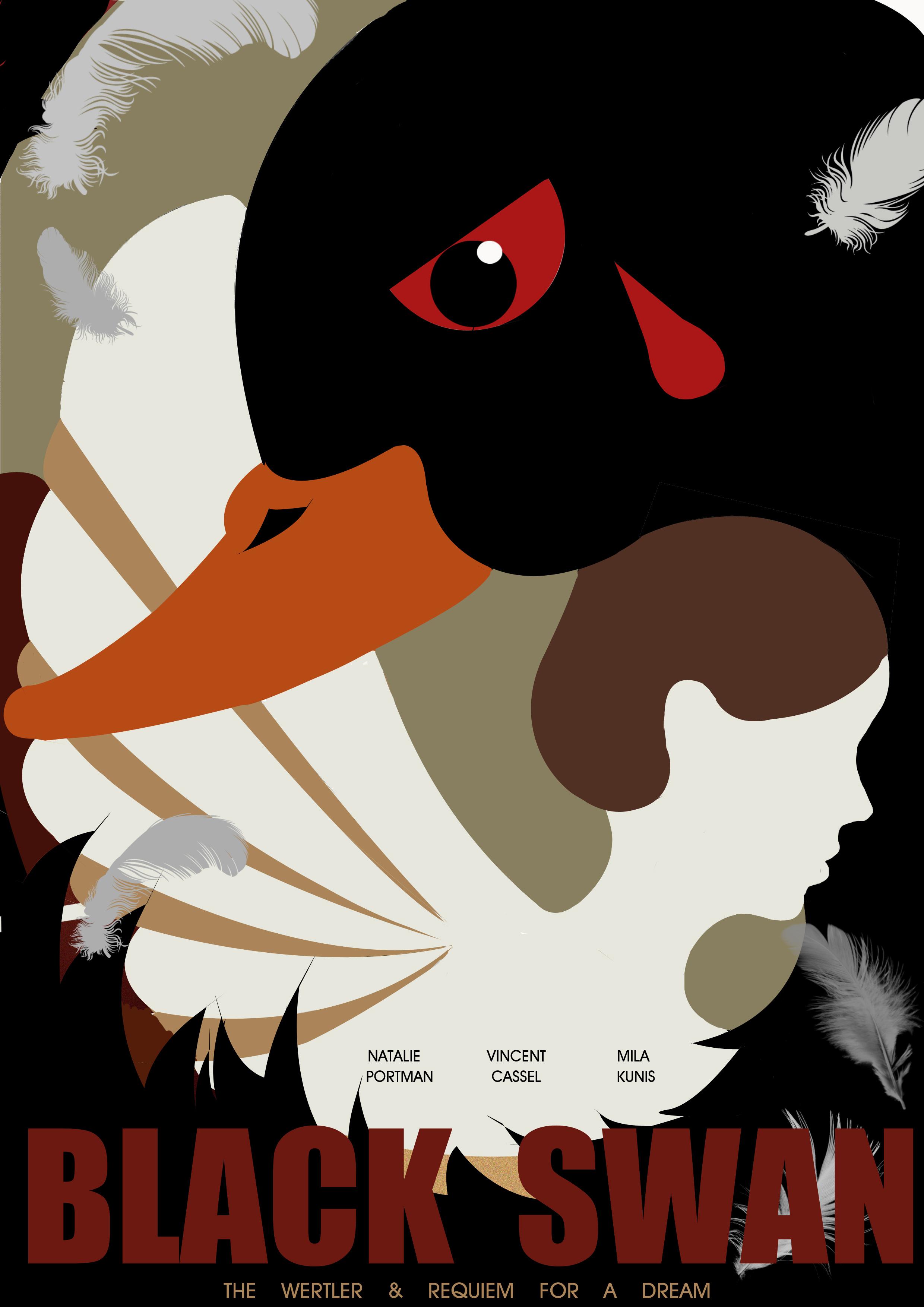 《黑天鹅》海报设计