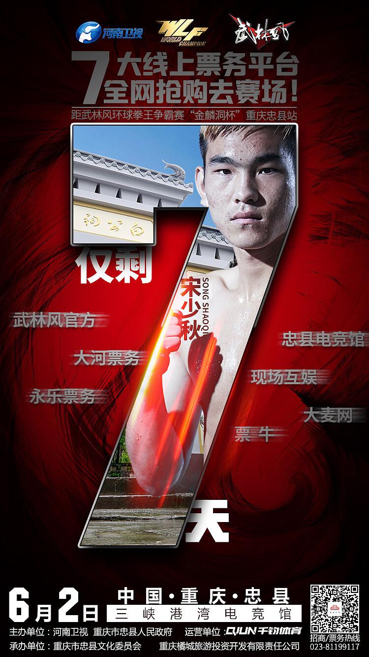6月2日wlf武林风-重庆忠县站-9天倒计时海报-微信 移动