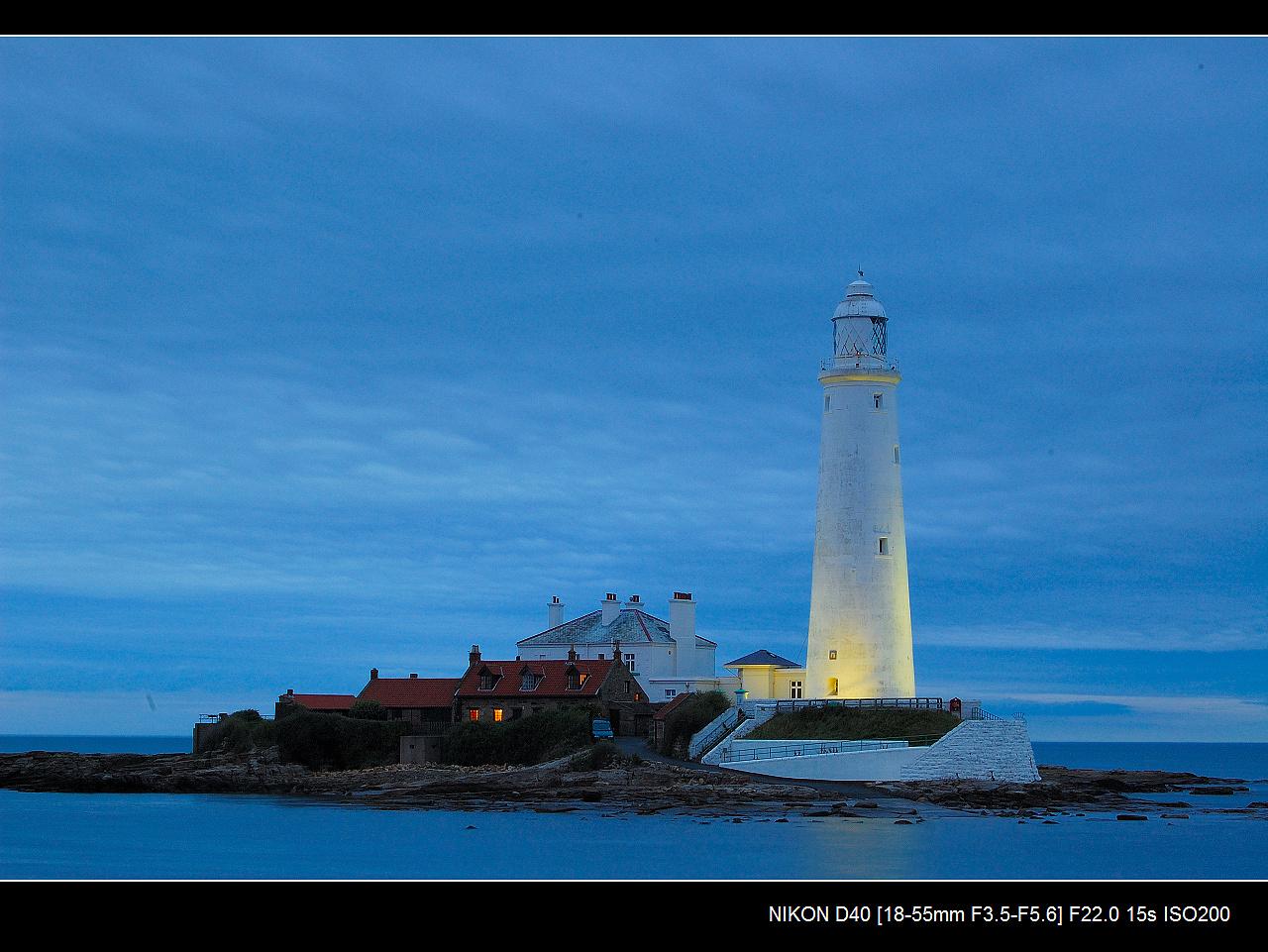 sunderland海边的灯塔