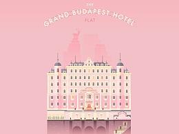 Lorena 受邀为布达佩斯大饭店设计官网视觉画面