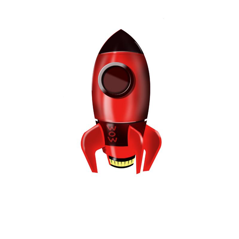 ui-icon-立体火箭临摹|图标|ui|乜影