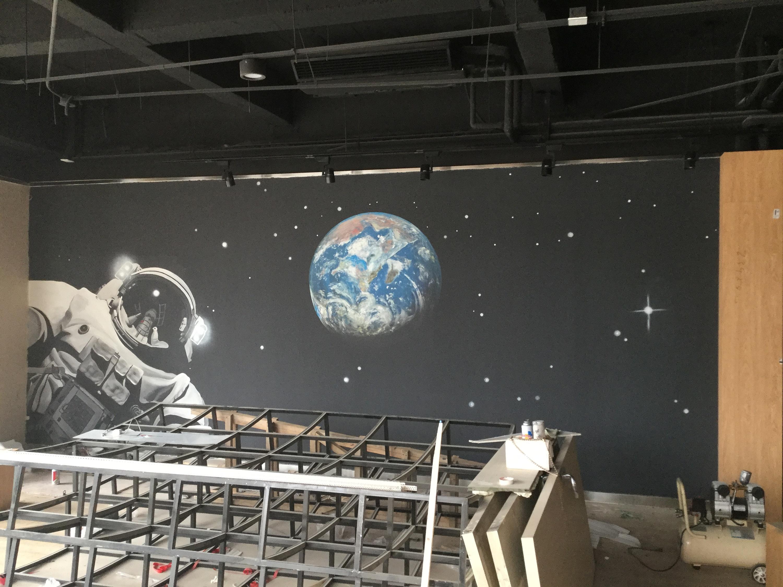 石家庄星空墙绘涂鸦手绘壁画 其他 墙绘/立体画 匠心