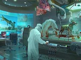 黑焰王云南老师生物研究所设计过程图