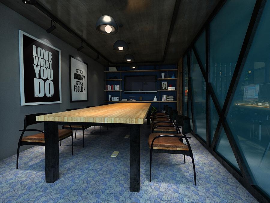 德利国际loft空间风办公室|室内设计|男人/建筑工业30岁平面设计转行图片