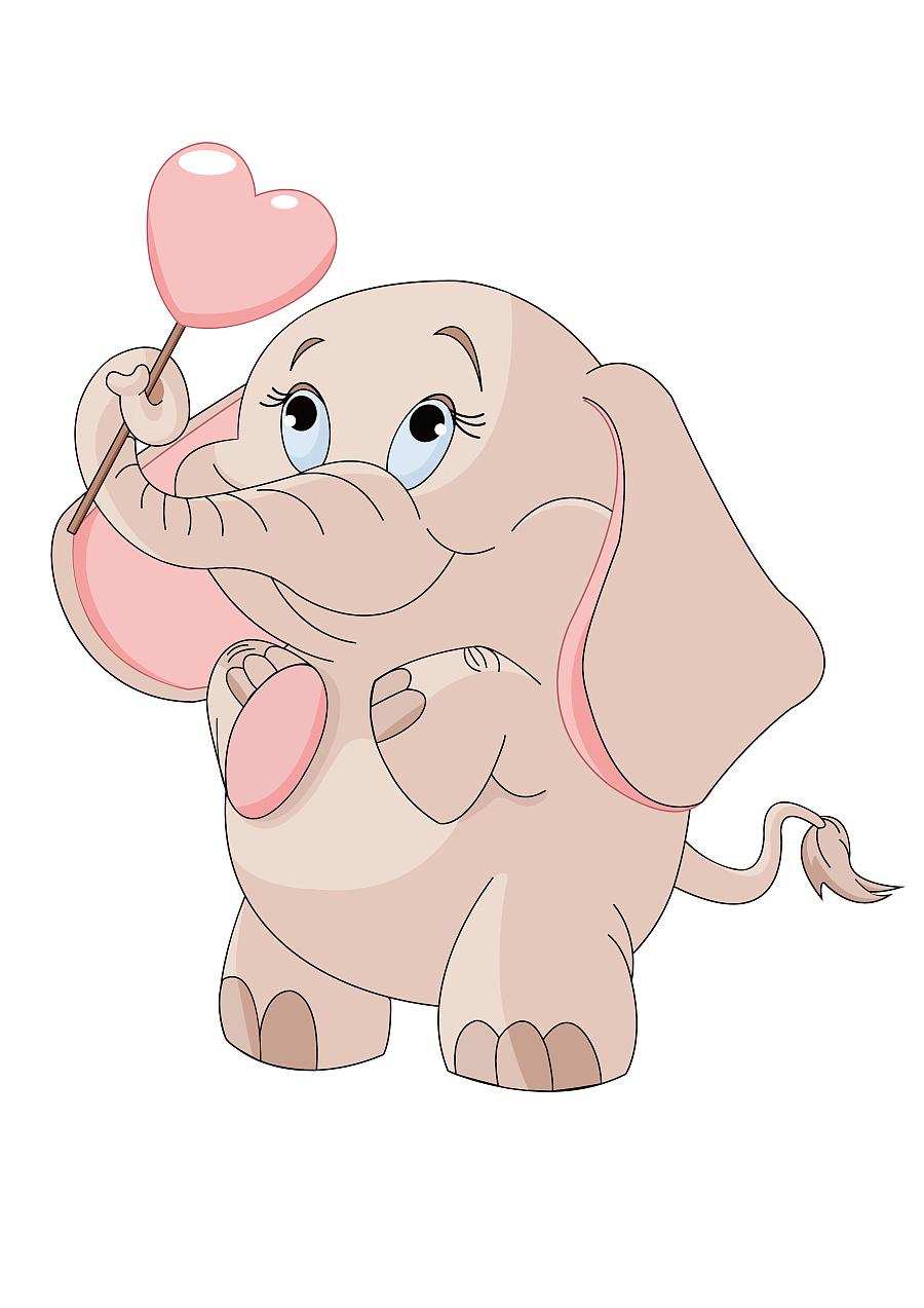 动物小象和临摹标志