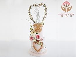 糖艺社翻糖蛋糕--婚礼蛋糕系列作品