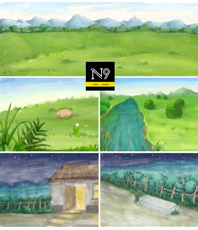 牧童|插画|概念设定|第九设计工作室 - 原创作品图片