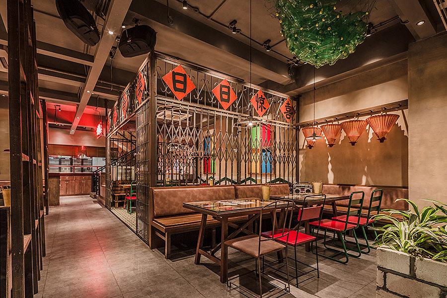 烧烤店 · 餐饮空间设计_华空间 天台上见