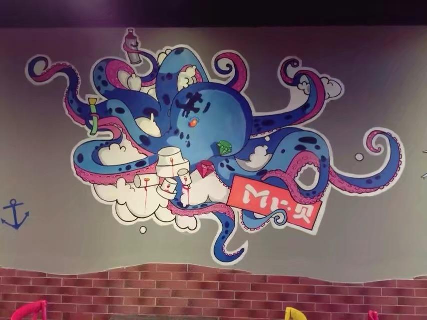 餐厅 手绘墙