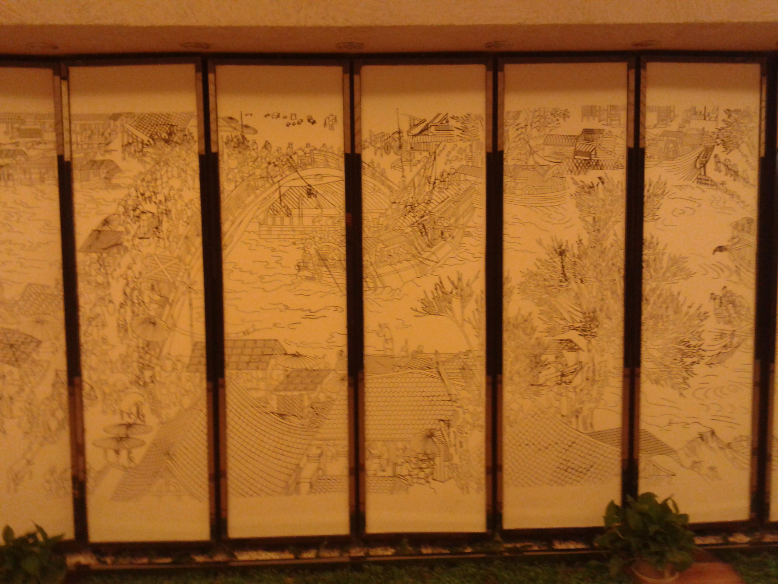 硅藻泥墙面手绘