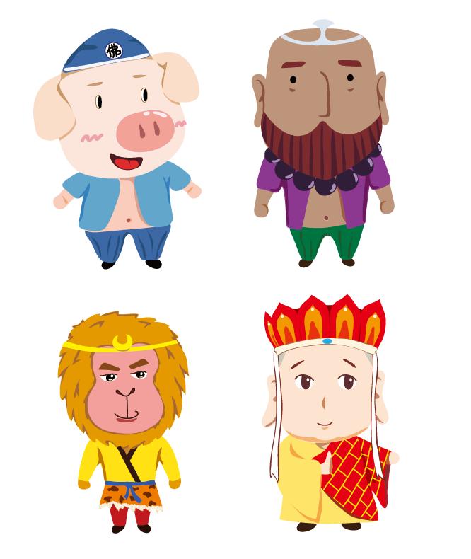 西游记人物|肖像漫画|动漫|润物细雨 - 原创设计作品