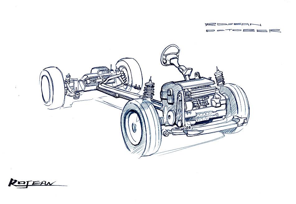 汽车发动机结构绘制步骤(从构图到线稿)-高清,无码,无
