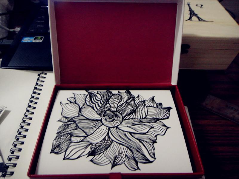 手绘黑白装饰画|绘画习作|插画|莹之森森