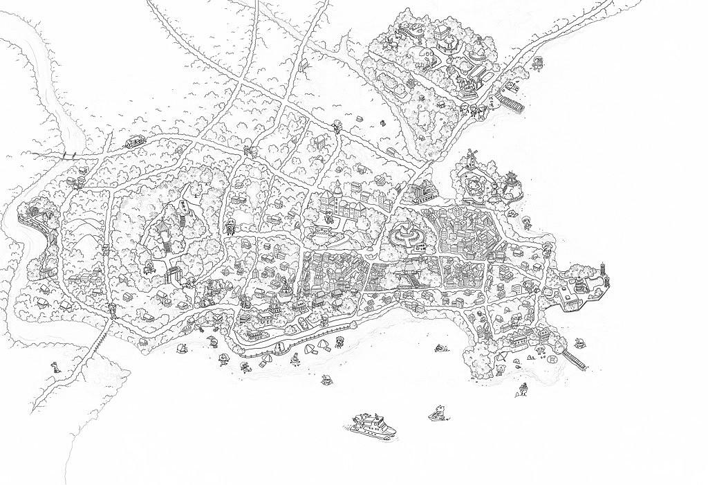 手绘地图|合集三|北京五环三亚北戴河大理拉萨荔波