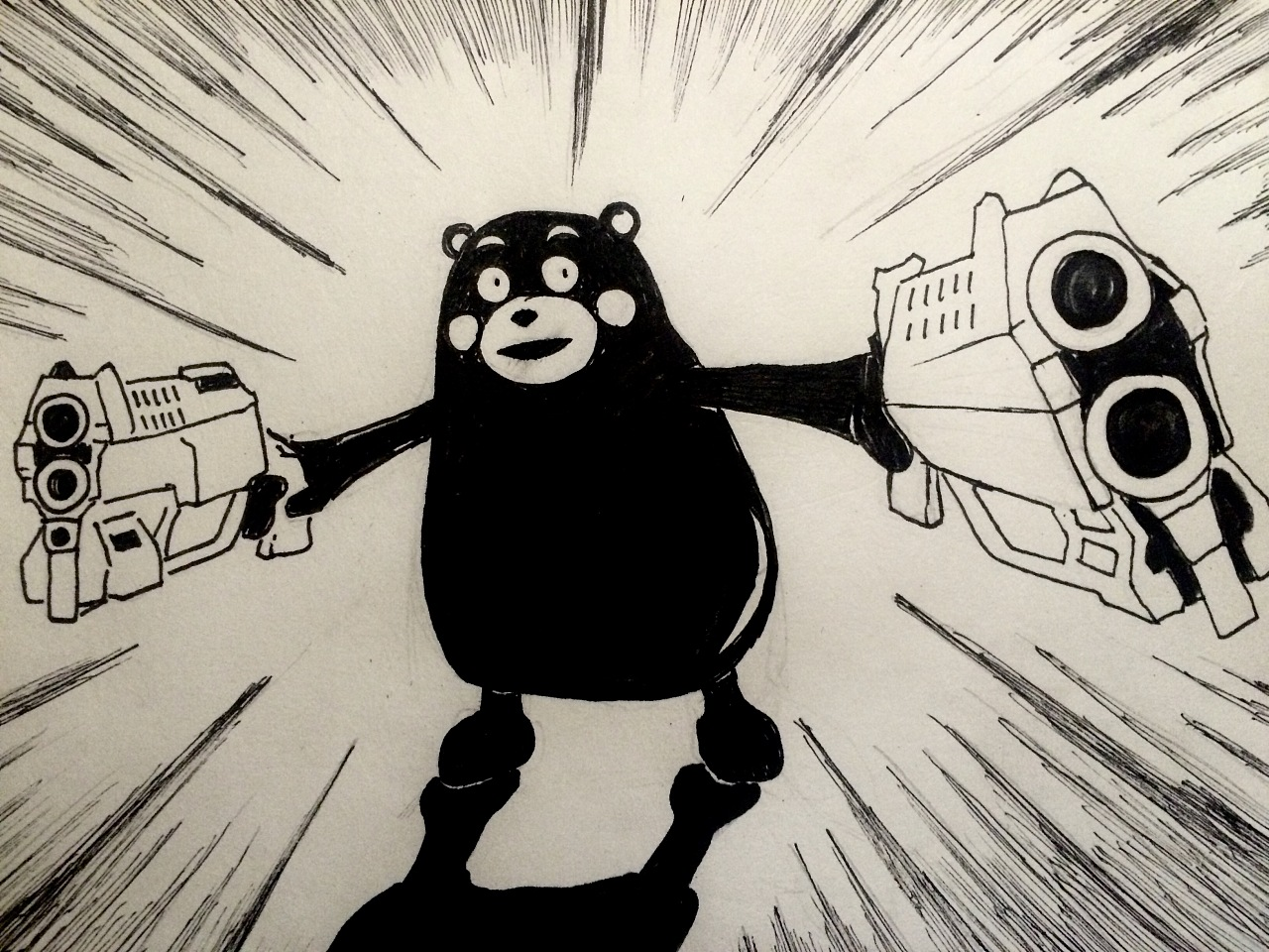 手绘死神熊本熊