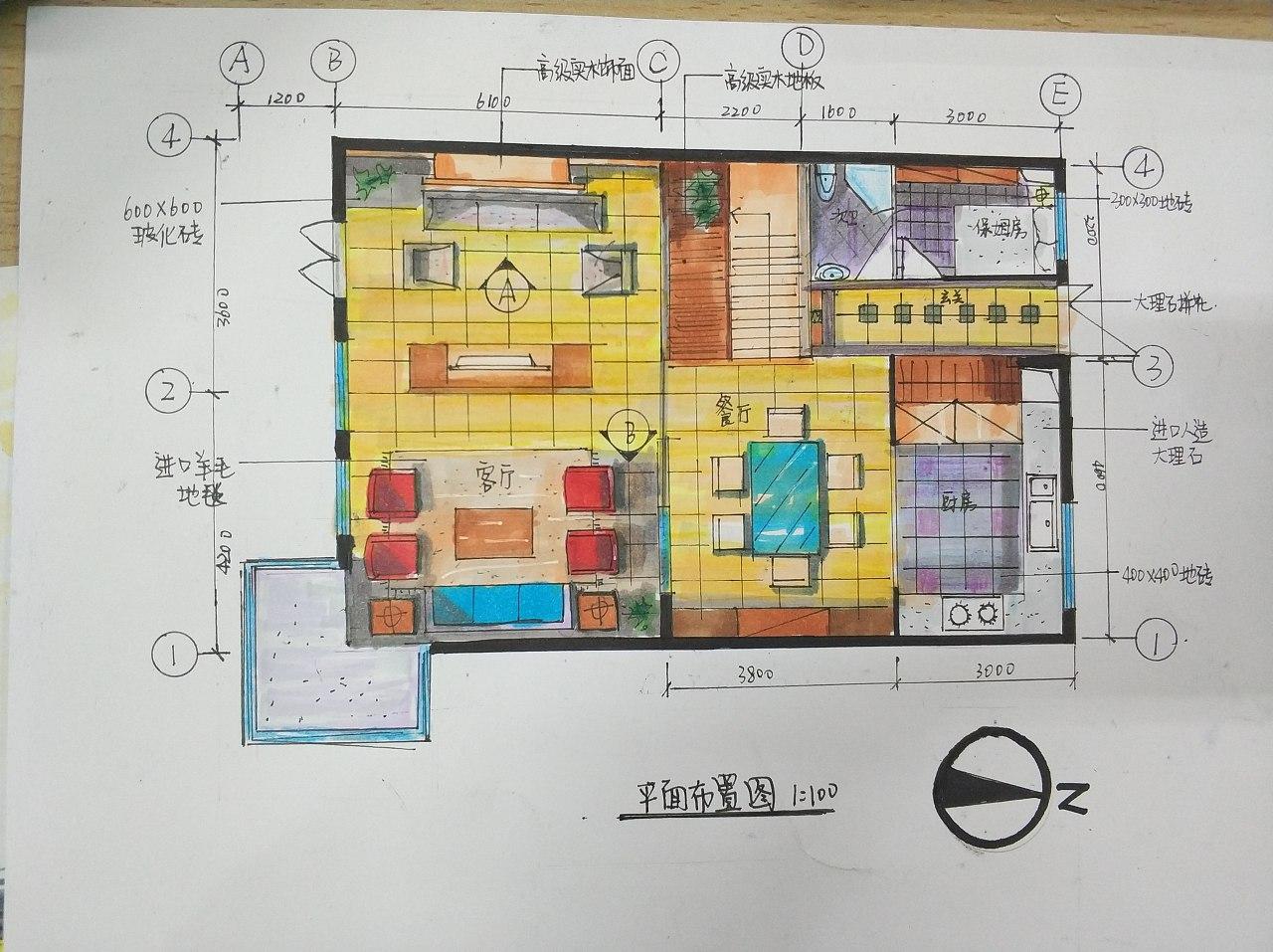 别墅设计手绘