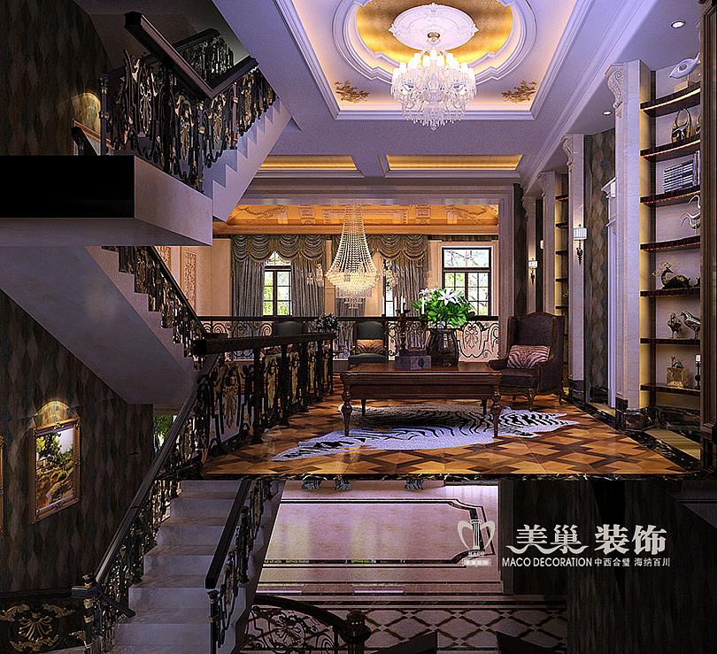 郑州自建680平独栋别墅简欧风格装修效果图山顶建别墅在的图片
