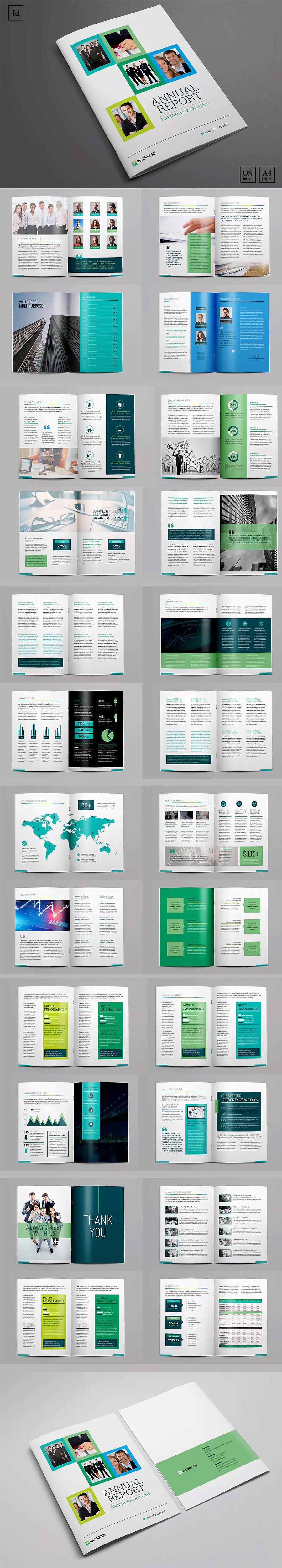 66套企业宣传册产品画册杂志排版作品集id设计模板indesign素材