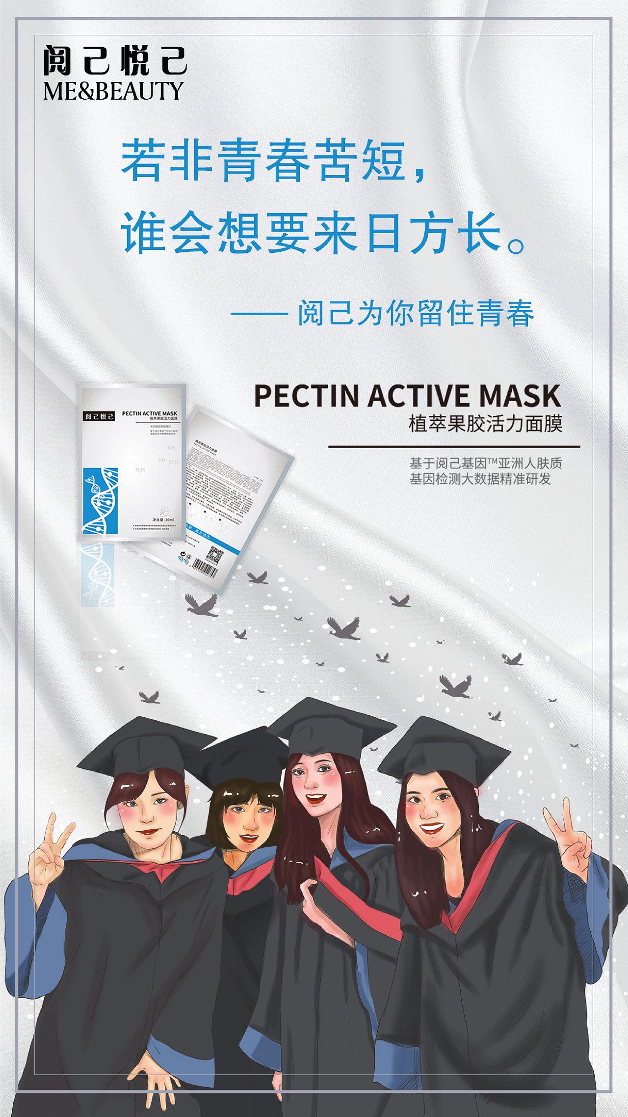 面膜宣传海报图片