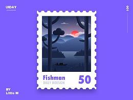 邮票插画习作
