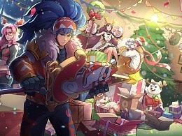 【王者荣耀】圣诞星元-活动KV