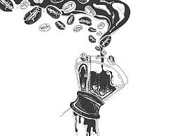 一点与咖啡相关的插画与设计