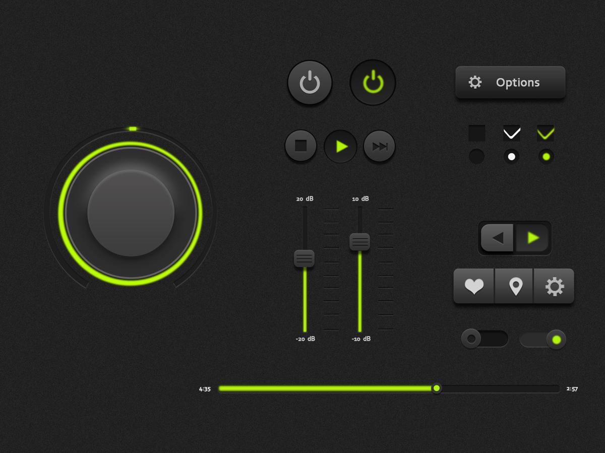 音乐播放器界面按钮临摹图片