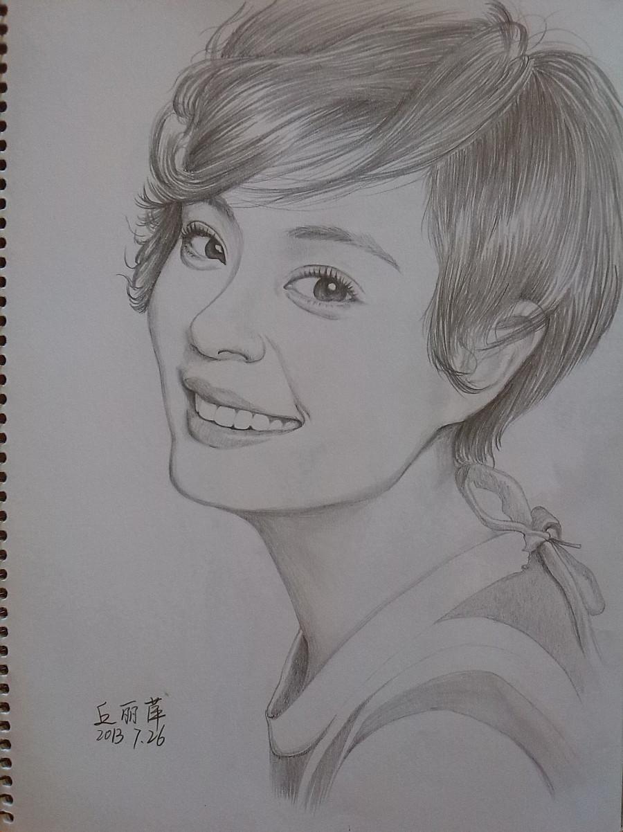 手绘头像8|素描|纯艺术|xiao丘