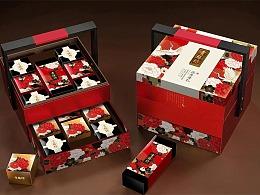 贡膳坊月饼盒设计