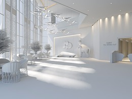 电晕渲染的一个办公大堂的设计
