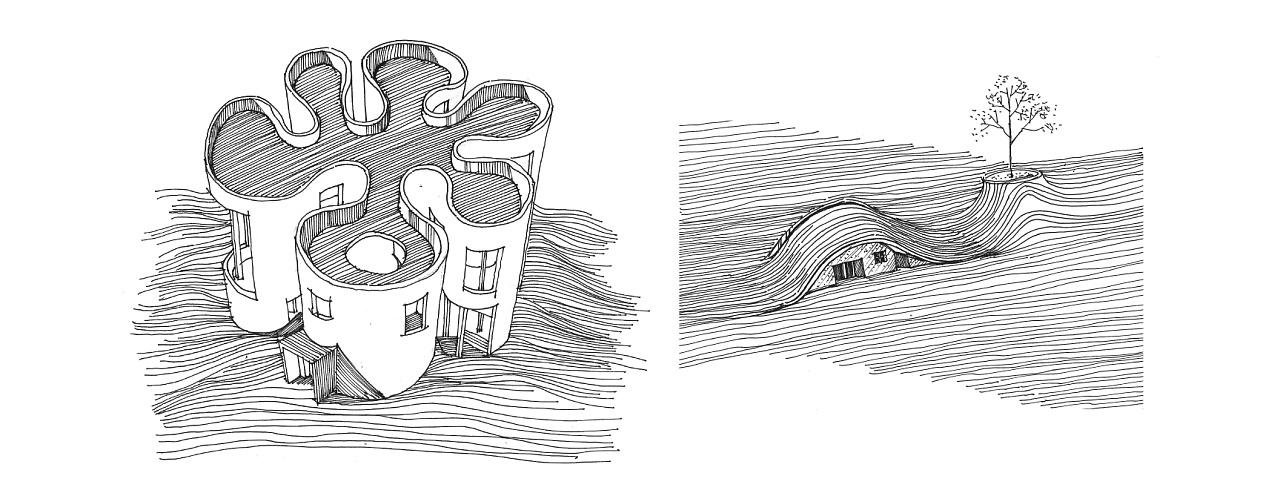 手绘线稿当中的直线与曲线|空间|建筑设计|代光钢