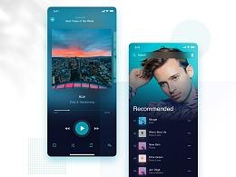 音乐+电商App界面设计(9P)