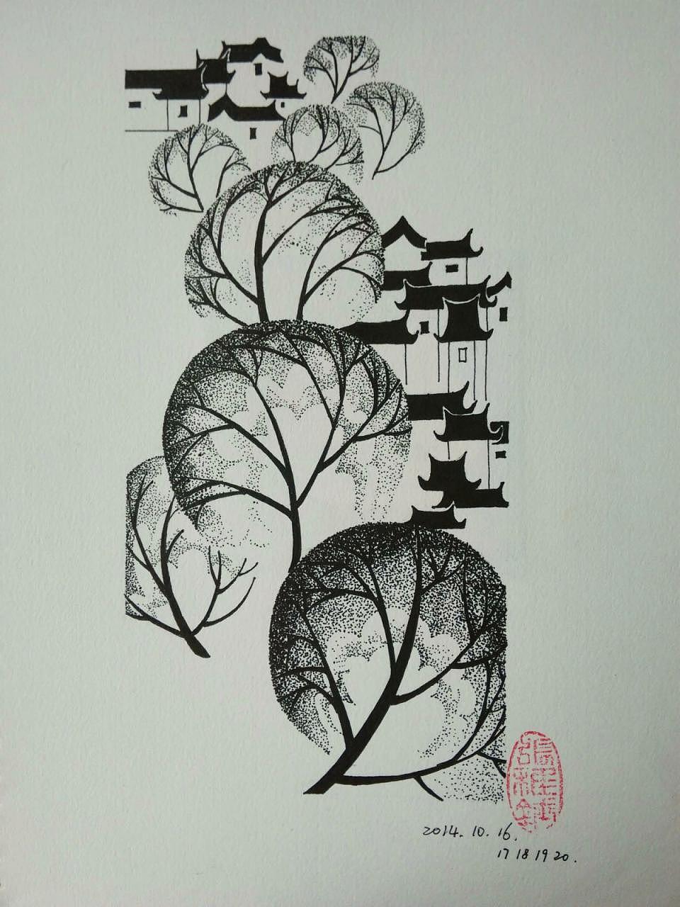 彩铅作品 及钢笔装饰画 集