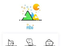 一组mbe风格小插画