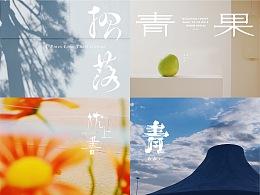 字体结合摄影作品的排版